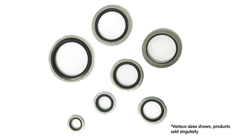 """10 x 1//2/"""" BSP Bonded Dowty Seal Self Centering Hydraulic Oil Seal Washer Ring"""